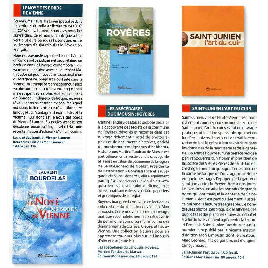 Pays du Limousin mai 2019, le Limousin en livres
